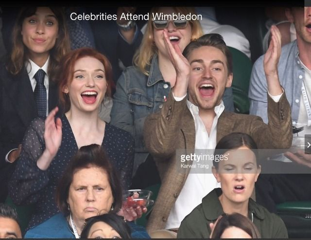 Eleanor and Ross Tomlinson attend Wimbledon ladies finals. July 15, 2017. This is Eleanor's real brother. NOT Harry Richardson whom plays her brother on Poldark.