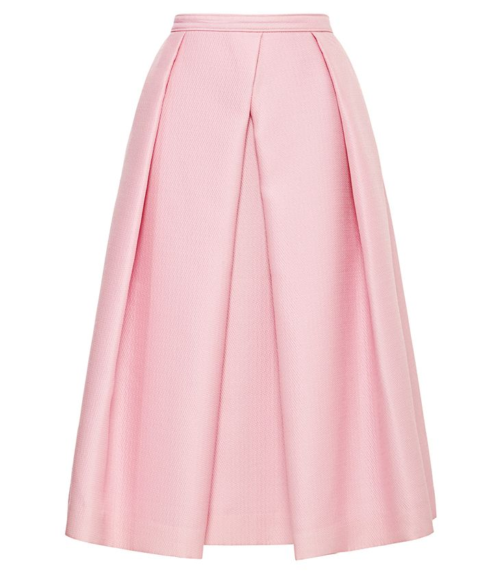 Tibi Pink Pleated Skirt - Shop 10 exact looks from your favorite fashion Instagrams. http://www.harpersbazaar.com/fashion/fashion-articles/shoppable-instagram-july