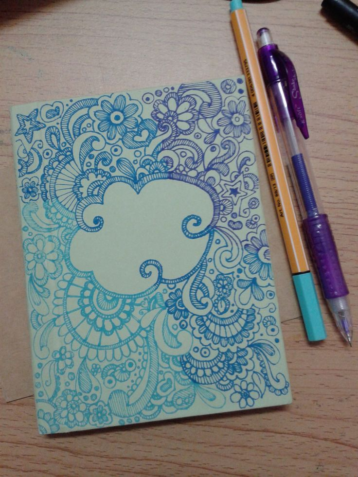 Pretty Book Cover Art : Doodle for diy notebook cover my work pinterest