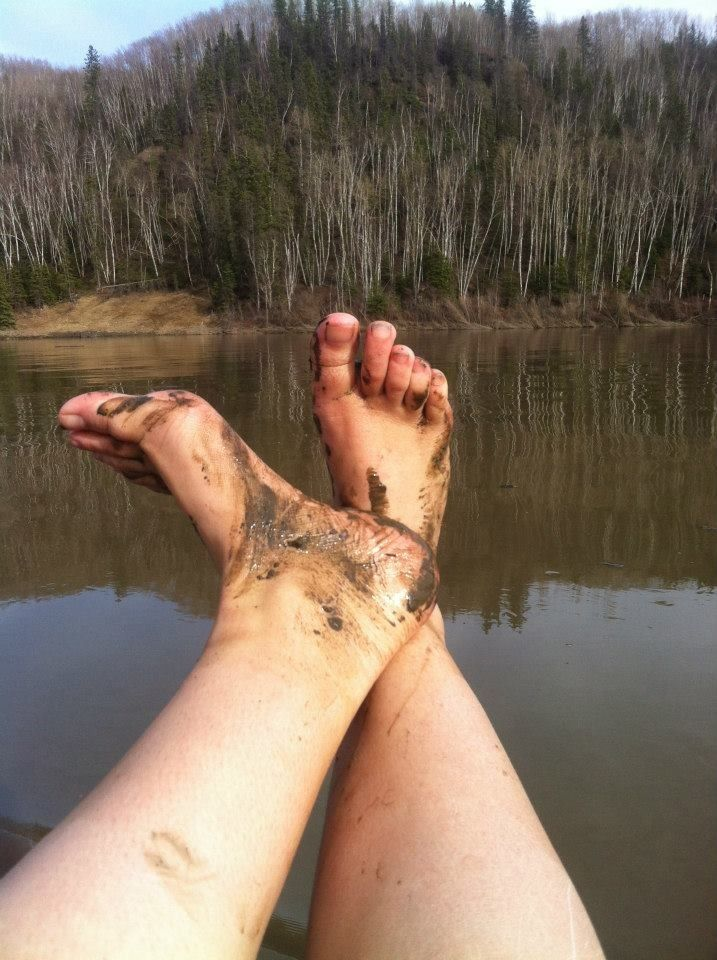 Little muddy on the boat