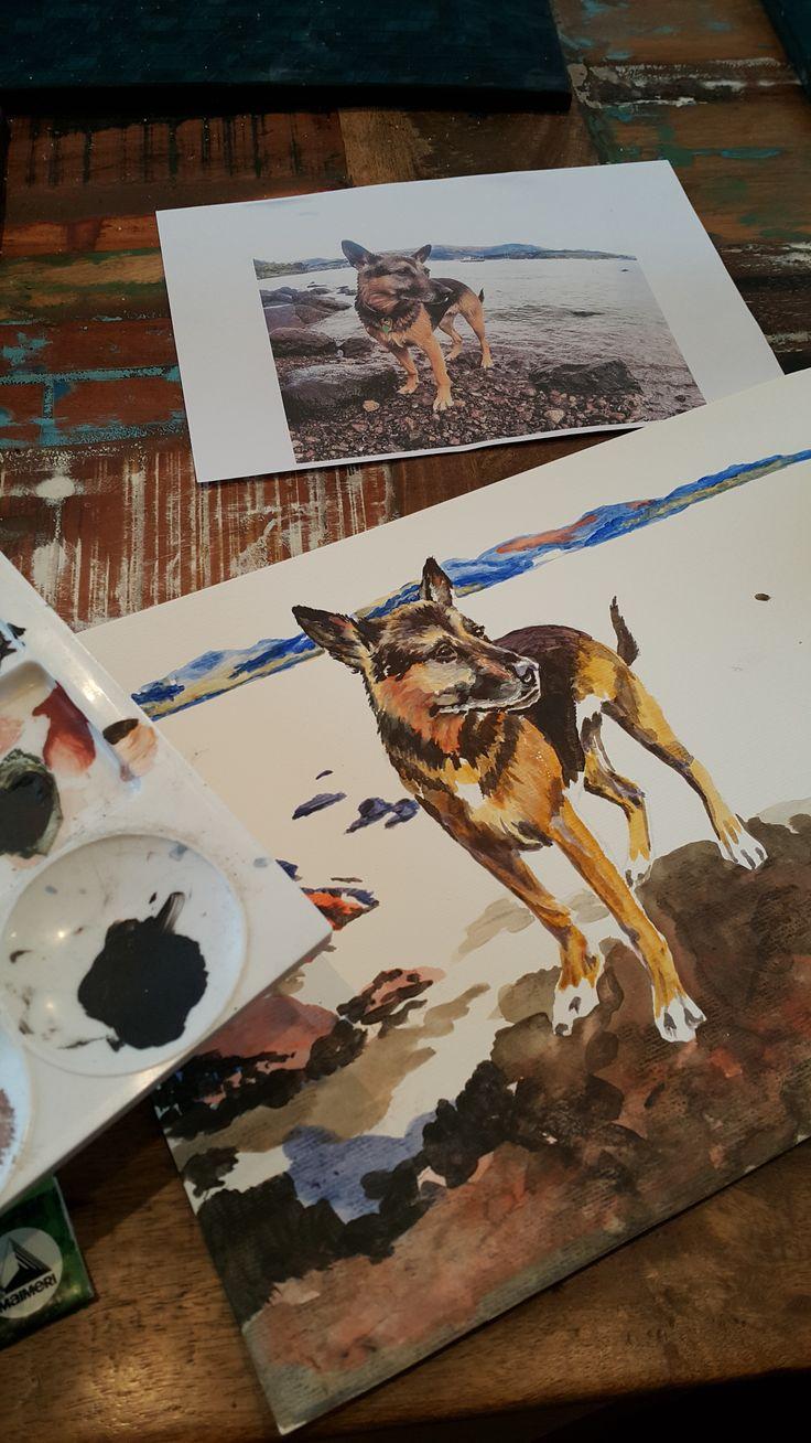 Work in progress Acrylic on watercolour paper