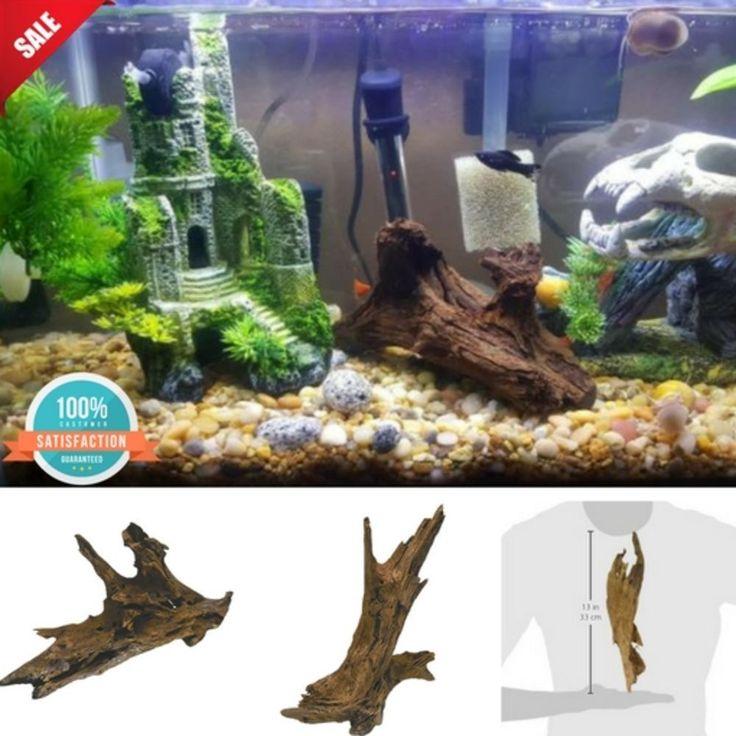 Fish Tank Aquarium Driftwood Authentic Malaysian Wood Trunk Decor Reptiles Toy #Zilla #Nature