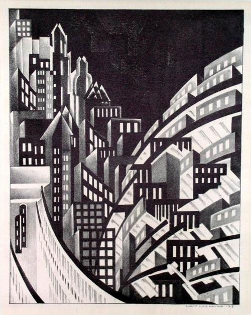 Deco cityscape