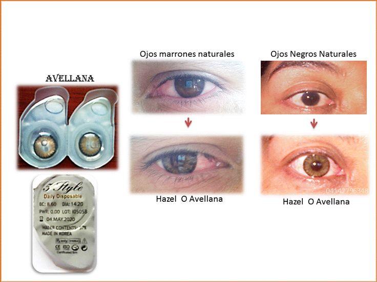 lentes de contacto avellana