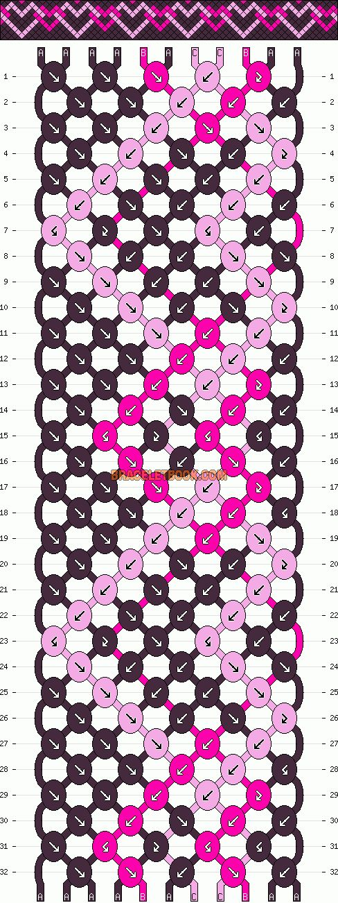 Normal Pattern #12864 #love #hearts #friendshipbracelets