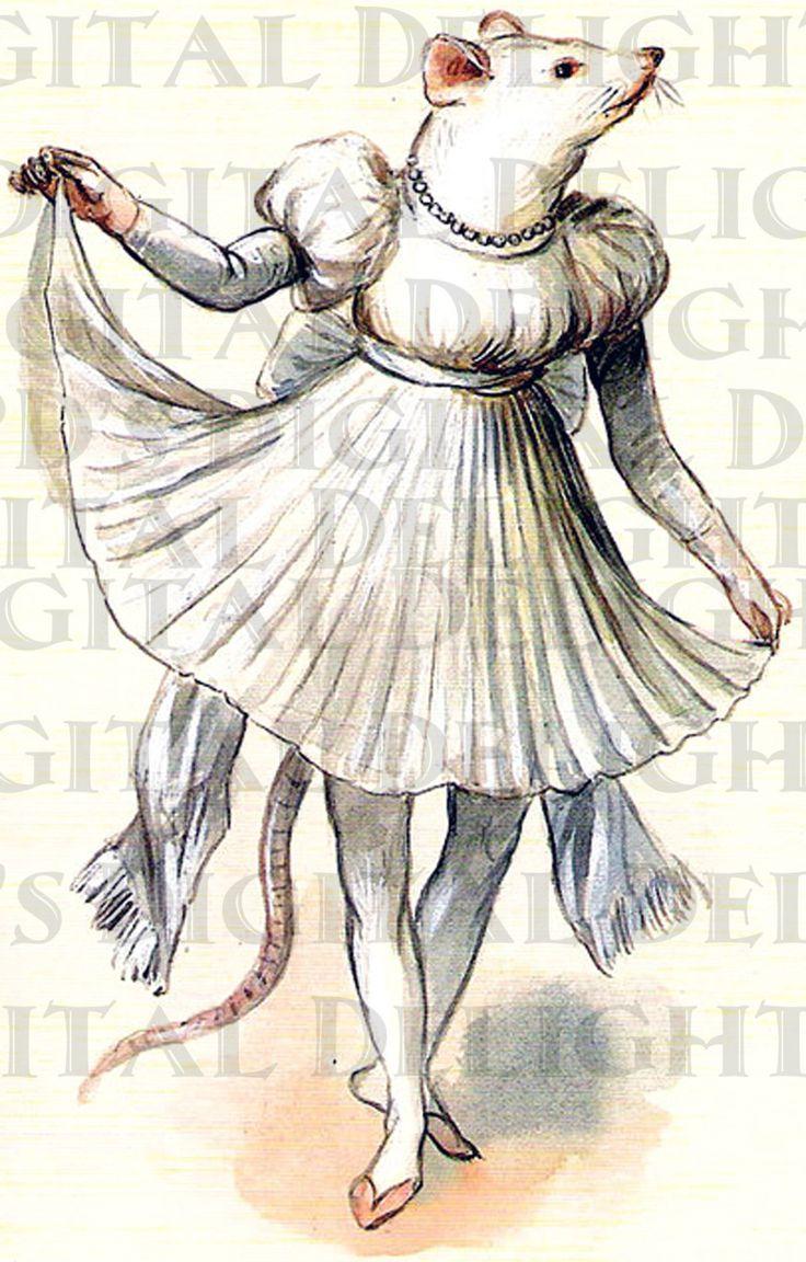 RARE.  Mouse French Costume. Digital MARDI by DandDDigitalDelights, $1.99
