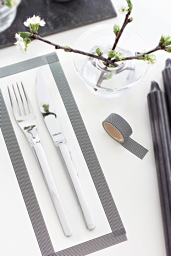 This Idea of the Week is made with Washi tape and is oh so chic!