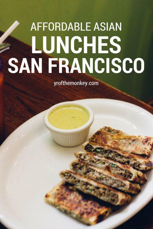 Affordable asian eats san Francisco Asian food lunch California Thai Singapore