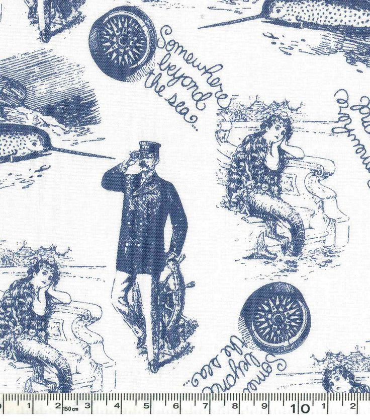 Novelty Cotton Fabric - Beyond The Seanull