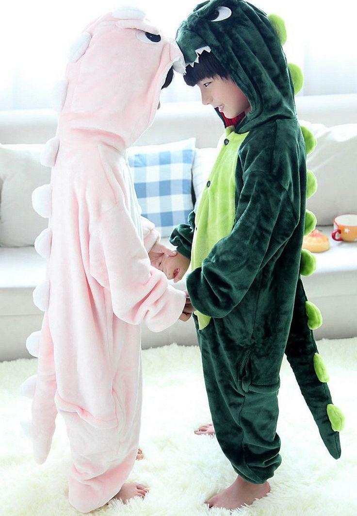 Aliexpress.com: Comprar 2016 nuevo dinosaurio pijamas para niños para niños y niñas de dibujos animados lindos niños ropa ropa de noche fija cabrito Homewear a prueba de frío, HC164 de onesie pijama fiable proveedores en Shining Kid