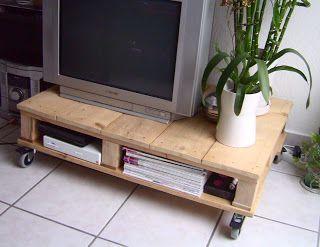 uchuemesa plataforma para tv con palets