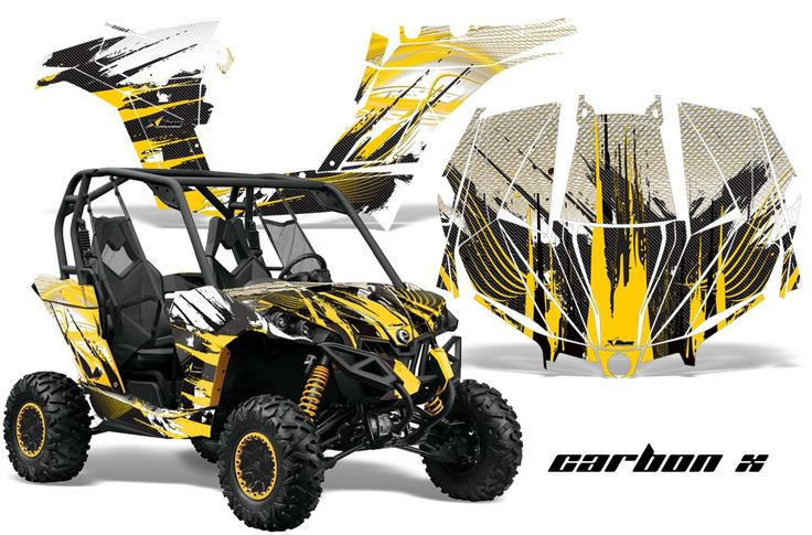 Can Am Maverick Graphics Carbon X Yellow Design Http
