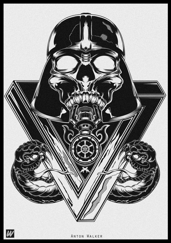 Dead Darth Vader by Anton Walker, via Behance