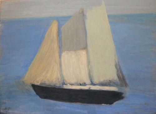 Le Petit Bateau, Nicolas de Staël, 1954 (French-Russian, 1914-1955), oil on canvas
