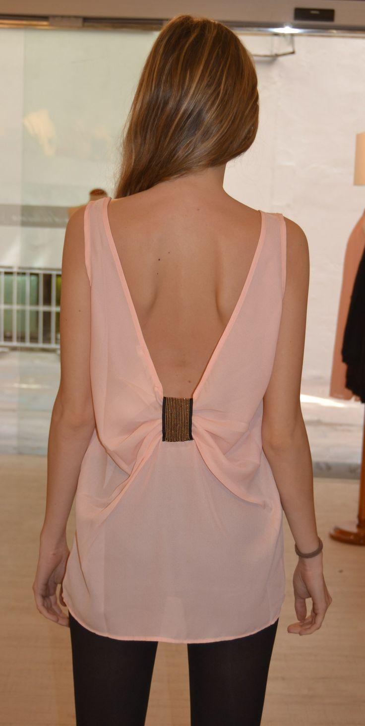 Blusa espalda descubierta rosa palo €29.99