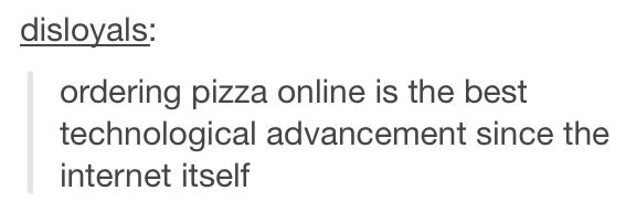 Ordering pizza online