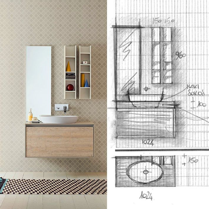 This version of Summit collection was thougth to be functional and extremely pure, thanks to its wooden finish, enhanced by an elegant white frame. #sketch #freehand #idea #concept #design #bathdesign #furniture #woodfurniture #designbath #MastellaDesign #interiors #interiordecor #homedecor #interiordesign #designlovers #behindthescenes #project