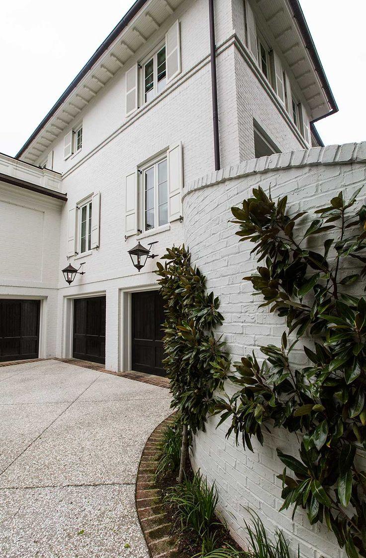Love The Garage Doors Painted White Brick White Shutters