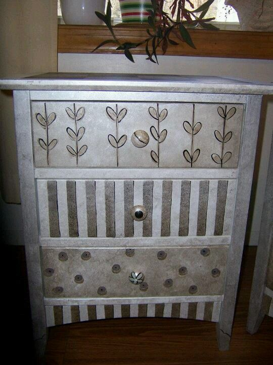 Painted end table quirky