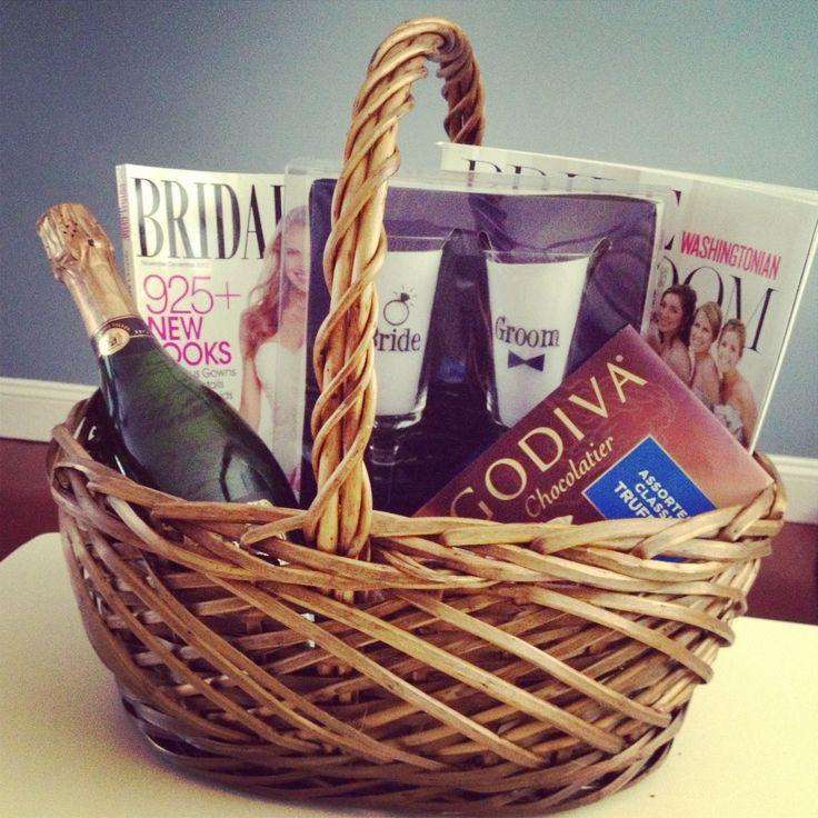 Wedding Gift Basket For Sister : ... Engagement gift baskets, Engagement basket and Bridal nails