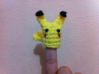 Finger Poke Puppets - Pikachu - Free Amigurumi Pattern - PDF Download