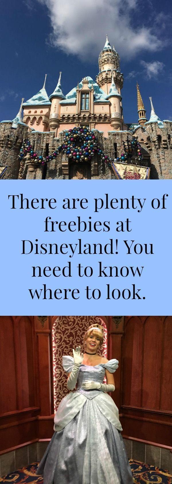 Where to get freebies at Disneyland.