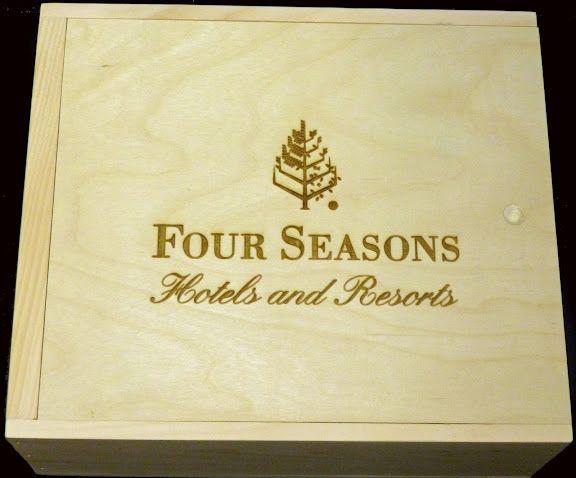 Four Seasons slide-top 6 bottle wooden wine box