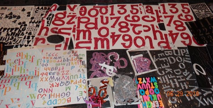 Scrapbook Lot Letters & Numbers Stickers Card Making Crafts Scrapbooking KR #Unbranded