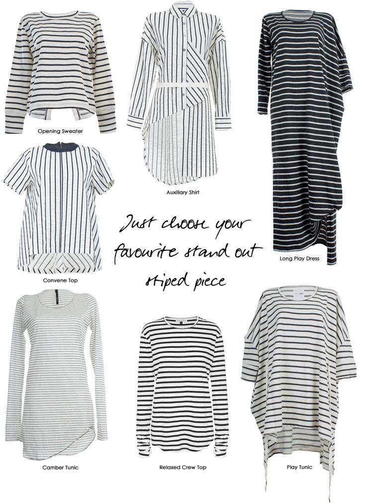 Everyone needs a classic striped top, such as the Opening Sweater or the Relaxed Crew Top in the wardrobe. They look great with jeans, combined with black and even with different prints or textures. Add a striped detail to your look wearing the Camber Tunics in Ivory Stripes as a layering piece, underneath jackets or vests. #stripes #taylor #inspirations #taylorboutique #style