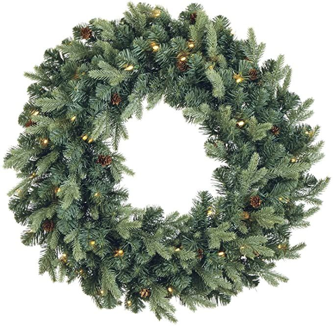 Amazon Com Noma Pre Lit Christmas Wreath For Front Door Battery Operated Wr Pre Lit Christmas Wreaths Best Christmas Lights Christmas Wreaths For Front Door Pre lit battery operated christmas wreath