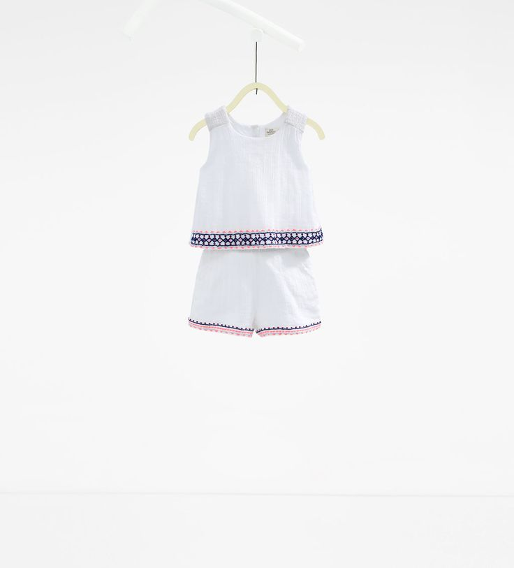Embroidered jumpsuit-SUMMER COLLECTION-BABY GIRL   3 months-3 years-KIDS   ZARA United States