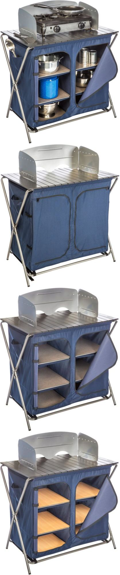 Coleman fish cleaning table re camping sink - Camping Furniture 16038 Camping Folding Cooking Table Portable Kitchen Utility Sink Food Prep New Buy
