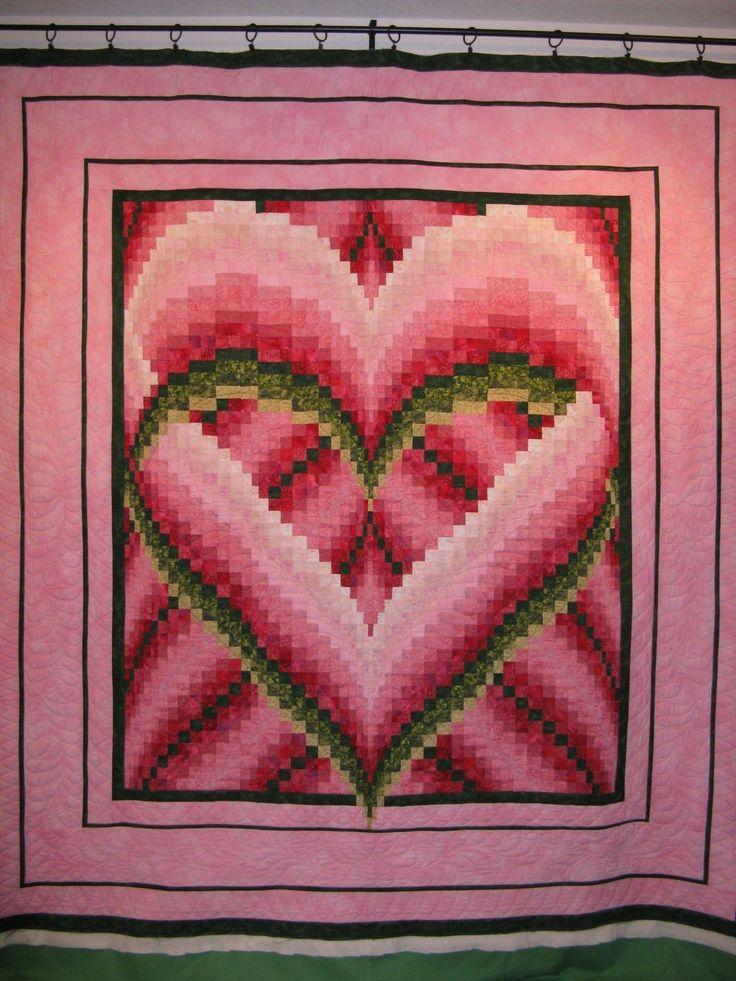 "melinda's+heart+quilt+pattern | The Pattern is called ""Melindas Heart"" by Heidi K. Farmer."