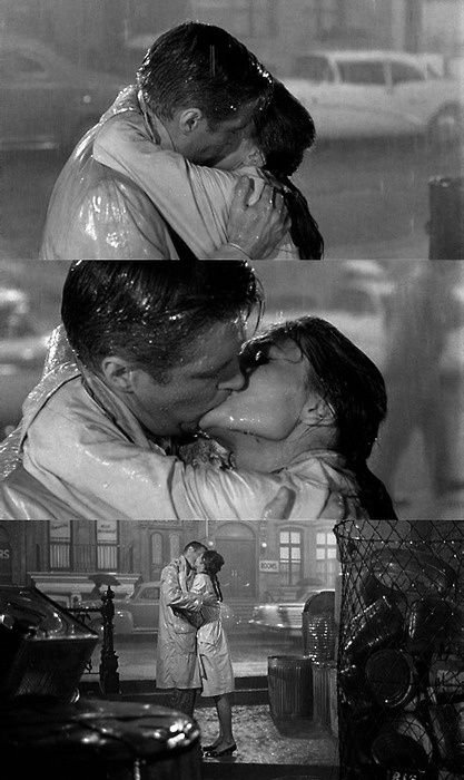 Breakfast at Tiffanys the first movie screen kiss I saw ... #kissmebaby #itsallinthekiss #puckerup