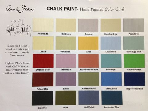 Hand painted chalk paint color card colores de pintura - Pintura ala tiza colores ...