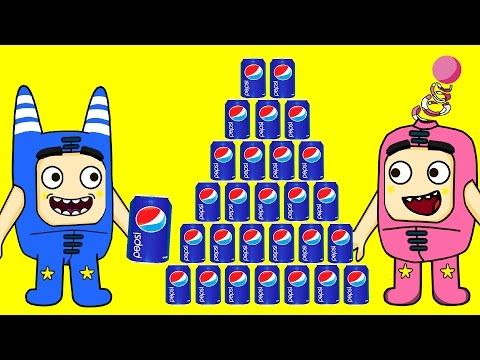 Oddbods crying and drinking AMAZING PEPSI CHALLENGE! - Daddy Finger Nursery Rhymes - YouTube