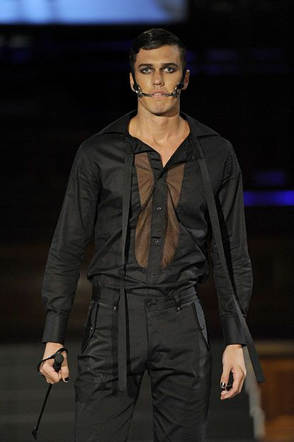 No Clowning Around. Oscar Calvo had heads turning during Catwalk Circus when he presented his Ready-to-Wear Fall/Winter 2011 Collection in the midst of L'Oréal Melbourne Fashion Festival (LMFF) 2011. #oscarcalvo #mensfashion #mensclothing #menswear