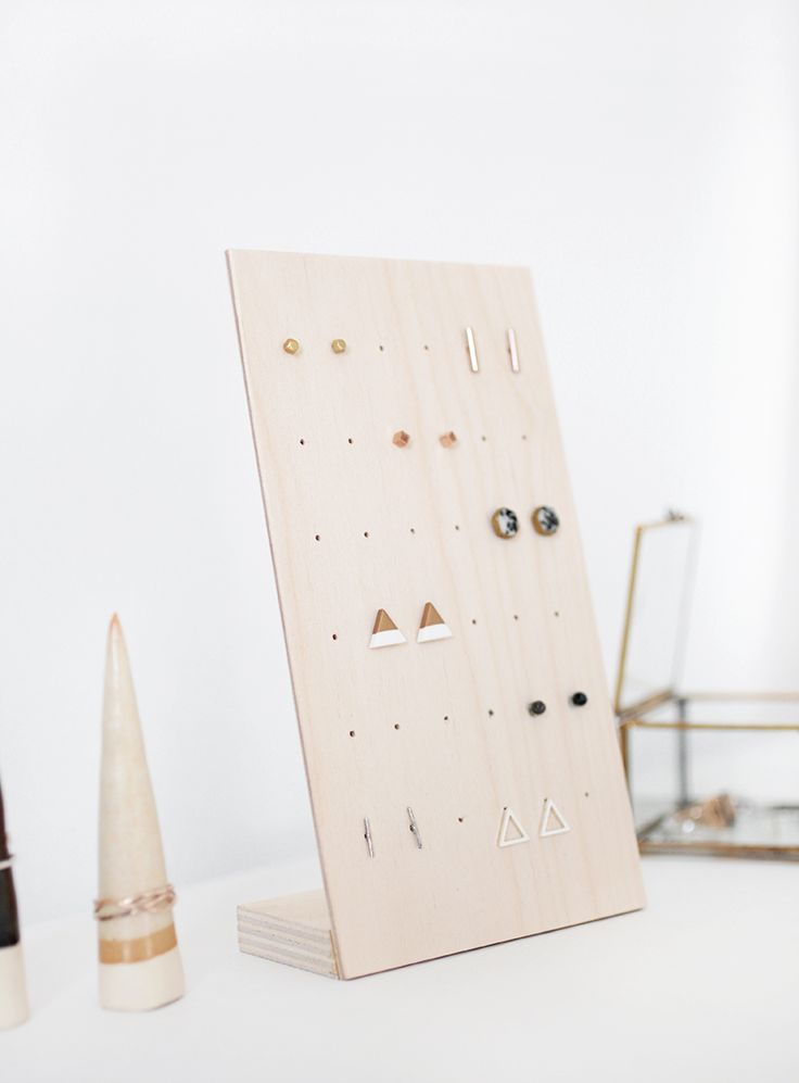 DIY Earring Stand @The Merrythought