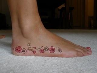cuteBlossoms Tattoo, Tattoo Ideas, Cherries Blossoms, Japanese Tattoo, Foot Tattoo, Feet Tattoo, Feminine Tattoo, Tattoo Design, Flower Tattoo