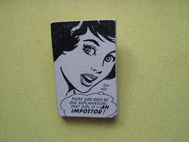 My retro collection of handmade brooches, created with thin mdf and retro comics