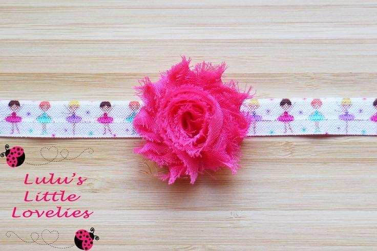 Ballerina Headband, Dance Headband, Birthday Party Headband, Gift for girl, Ballerina FOE, Dance Party, Dance Team, Dance Team Hair - pinned by pin4etsy.com
