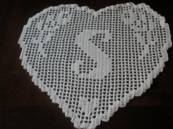 PATTERN crochet filet schema lettera S di CreazioniFiopi su Etsy