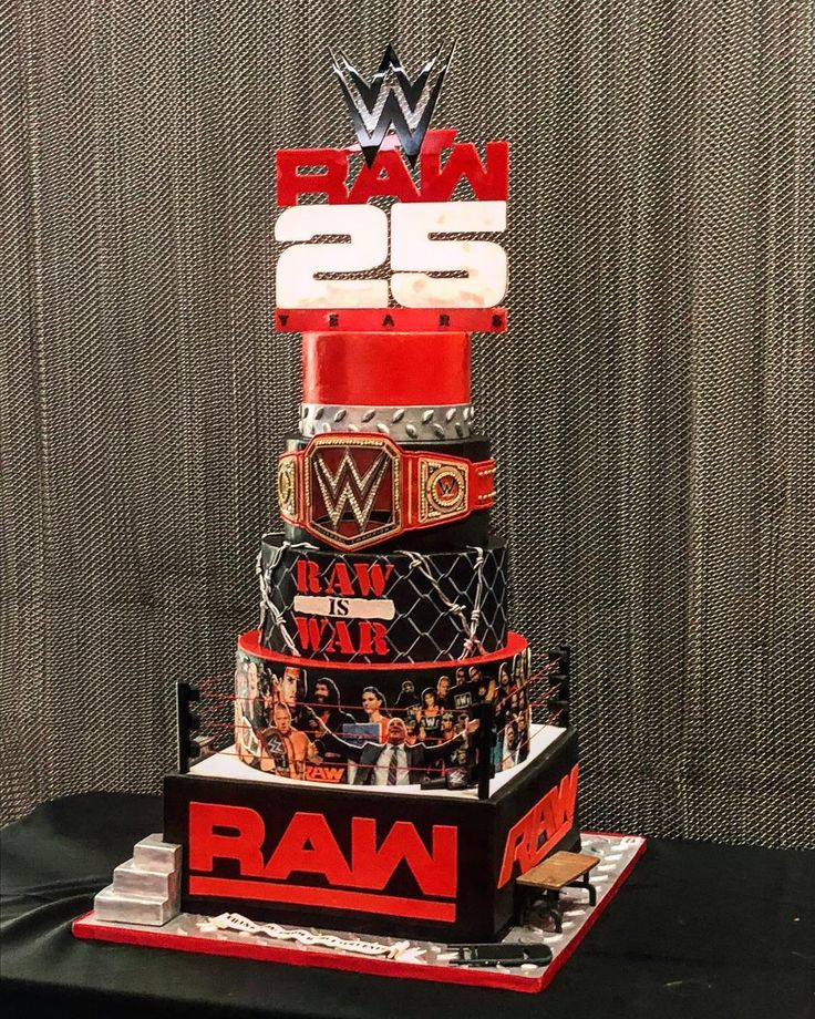 """205k Likes, 1,252 Comments - WWE (@wwe) on Instagram: """"An amazing cake from our partners at the @barclayscenter! #RAW25"""""""