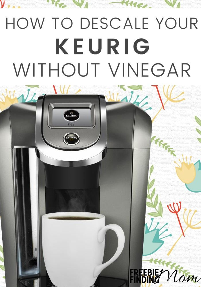 When is the last time you cleaned your Keurig or coffee pot? Here's an easy Keurig descale solution DIY recipe that you can whip up in minutes. Once you learn how to descale a Keurig without vinegar your coffee will not only taste better and be healthier for you, but your Keurig will perform better as well since it will be free of mineral build up and coffee debris.
