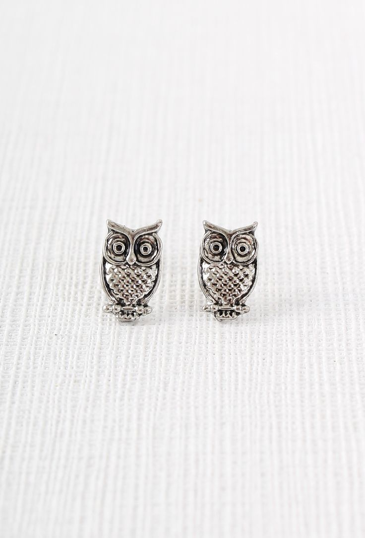 These awesome owls are always a wise choice as the finishing touch to any outfit. | Owl Earrings | Cute Jewellery | Owl Jewelry