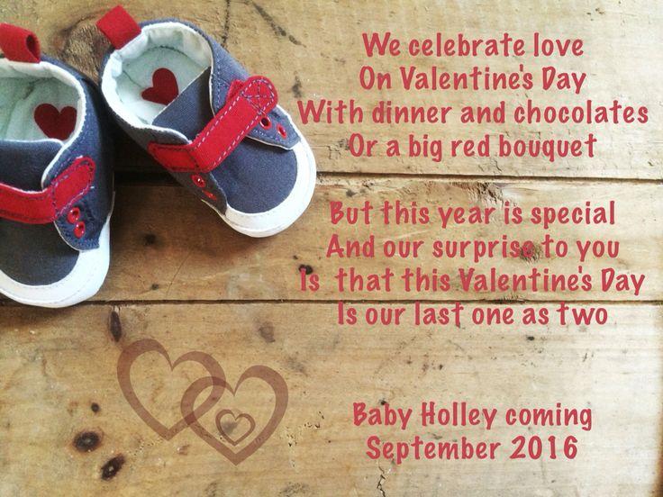 Toll Valentineu0027s Day Pregnancy Announcement