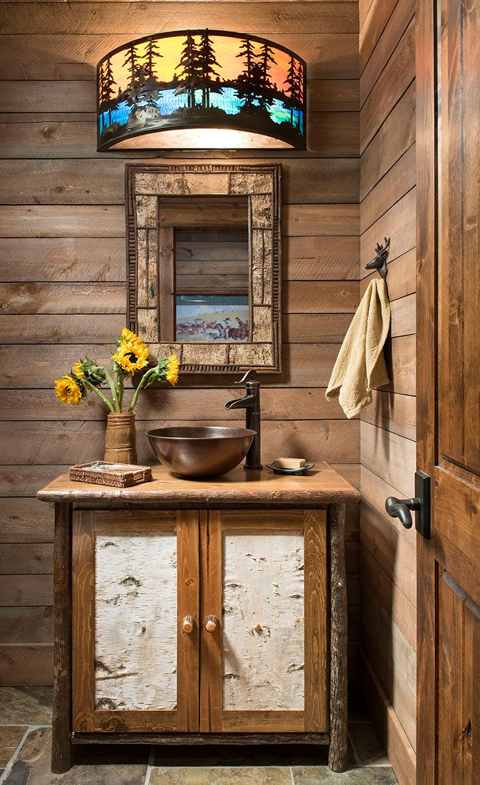 An Elegantly Rustic Cabin In Steamboat Springs 2019 Bathroom Bathrooms Home Decor