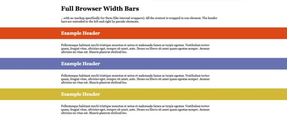 how to create a banner on all pages in css