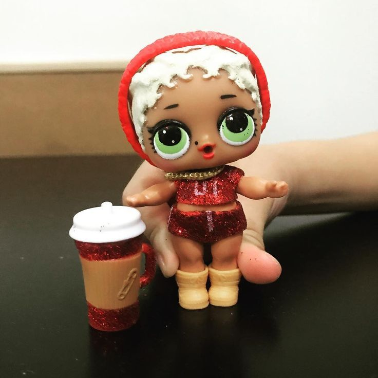 Red Glittery Lolsurprisedoll Lol Cheerleader Crafts For Kids Cheerleading Red