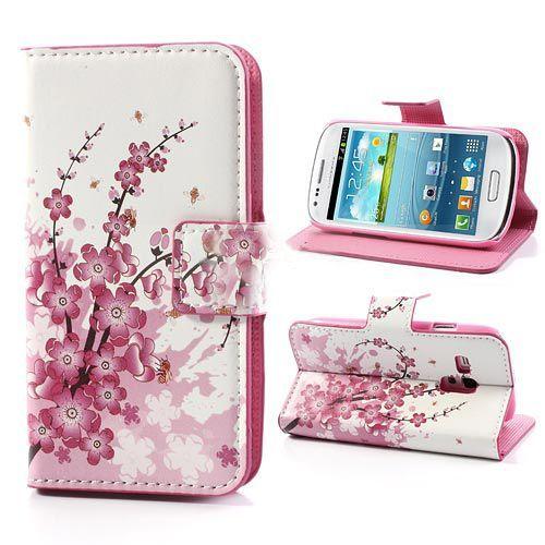 3-in-1 bloemenprint hoesje voor de Samsung Galaxy S3 mini